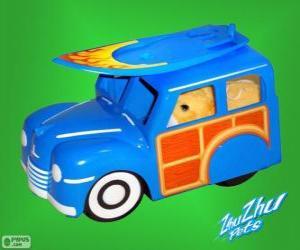 puzzel Vrachtwagen surfen