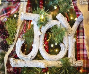 """puzzel Vreugde voor Kerstmis """"JOY"""""""