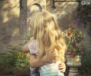 puzzel Vrienden knuffel