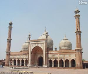 puzzel Vrijdagmoskee van Delhi, India