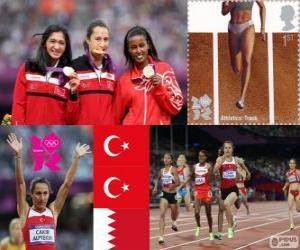 puzzel Vrouwen 1500 meter Londen 2012