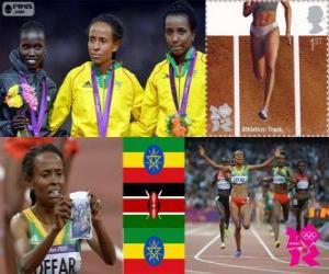 puzzel Vrouwen 5000 meter Londen 2012