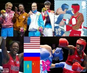 puzzel Vrouwen Boksen-Middengewicht Londen 2012