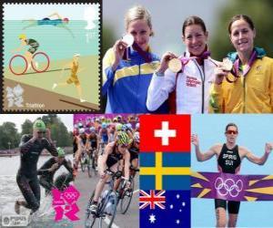 puzzel Vrouwen triatlon Londen 2012