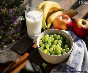 puzzel Vruchten en melk