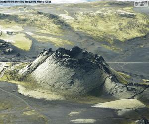 puzzel Vulkaan Laki, IJsland