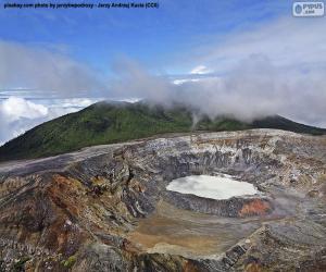 puzzel Vulkaan Poás, Costa Rica