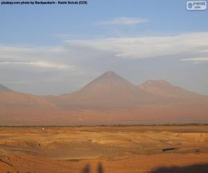 puzzel Vulkanen in de Atacama, Chili