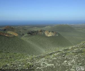 puzzel Vulkanische landschap, Lanzarote