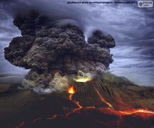 puzzel Vulkanische uitbarsting