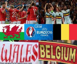 puzzel Wales-BE, kwartfinale Euro 2016