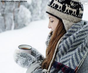 puzzel Warme drank voor koude