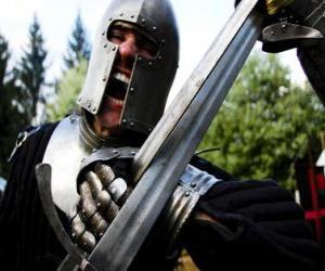 puzzel Warrior vechten een strijd