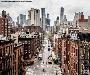 puzzel Weergave straat in Manhattan