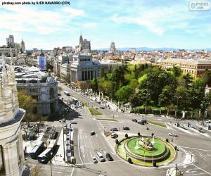 puzzel Weergave van Madrid, Alcalá-Gran Vía