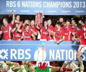 puzzel Welsh kampioen de 2013 Six Nations