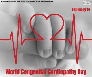 puzzel Wereld Aangeboren Cardiopathie Dag