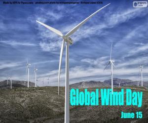 puzzel Wereldwijde Winddag