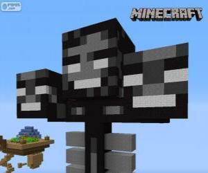 puzzel Whither, een baas schepsel in Minecraft