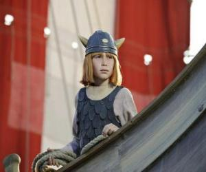 puzzel Wickie de Viking in vikingschip