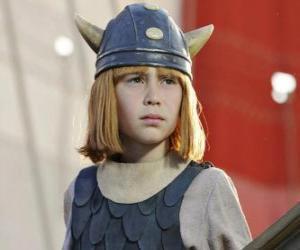 puzzel Wickie de Viking met zijn helm met horens