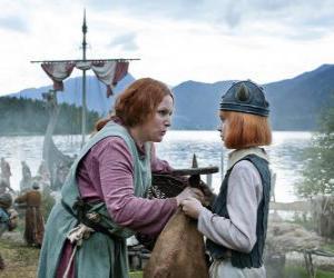 puzzel Wickie de Viking met zijn moeder Ylva
