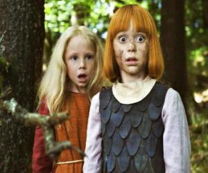 puzzel Wickie de Viking naast haar beste vriendin, Ylvi