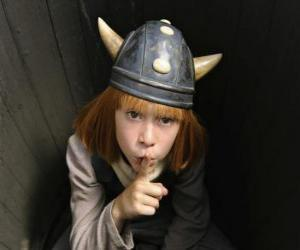 puzzel Wickie de Viking verbergen