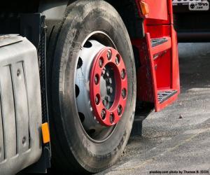 puzzel Wiel vrachtwagen
