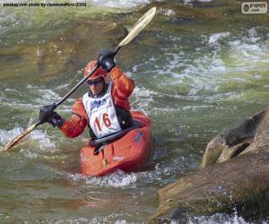 puzzel Wildwater kanoën