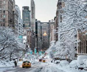 puzzel Winter in New York