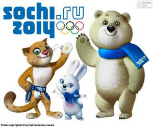 puzzel Winterspelen van Sochi 2014