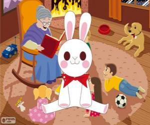 puzzel Witte konijn uit een sprookje