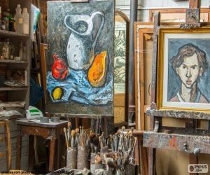 puzzel Workshop kunstenaar schilder