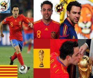 puzzel Xavi Hernandez (Het estafettestokje) Spaanse nationale elftal Middenvelder