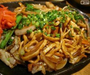 puzzel Yakisoba, Japans eten