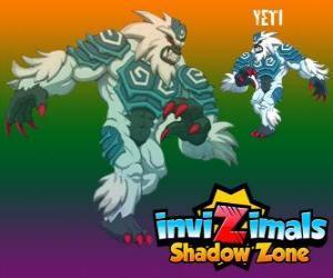 puzzel Yeti. Invizimals Shadow Zone. De krachtige yeti leven verborgen in de hoogste toppen van de Himalaya