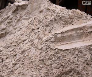 puzzel Zand voor bouw