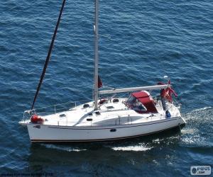 puzzel Zeilboot naar motor