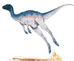 puzzel Zephyrosaurus was een tweevoetige corridor van slechts 1,8 meter in lengte met een gewicht van 50 kg