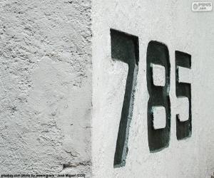 puzzel Zeven honderd en tachtig - vijf