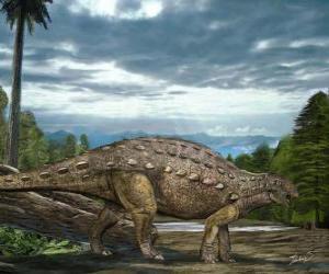 puzzel Zhejiangosaurus leefde ongeveer 100 tot 94 miljoen jaar geleden