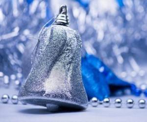 puzzel Zilveren kerst bel