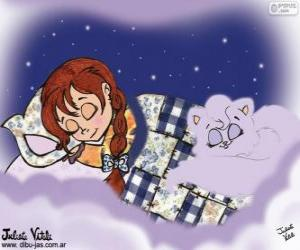 puzzel Zoete dromen. Tekening van Julieta Vitali