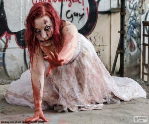 puzzel Zombie, Halloween