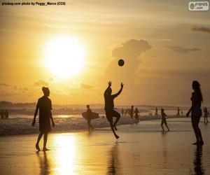 puzzel Zonsondergang op het strand