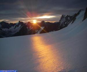 puzzel Zonsopgang op de berg