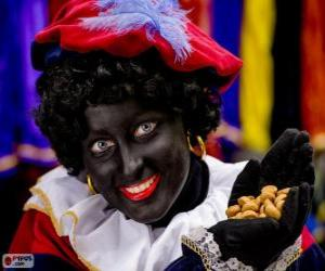 puzzel Zwarte Piet, de assistent van Sinterklaas in Nederland en België