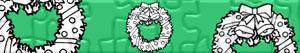 Puzzles de Kerst kransen en guirlandes