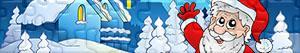 Puzzles de Kerstman, rendieren en elfen